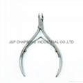 Stainless Steel Nail Cutter Cuticle Nipper double spring