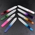 Beautiful girl glass Nail Files Durable Crystal glass Nail File nail buffer