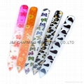 Professional glass  Nail File coating Colorful Crystal Glass Nail Tool