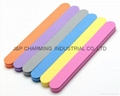 color sunshine nail file long straight nail buffer file washable 100/180 manicur