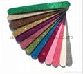 random colour glitter nail file eva