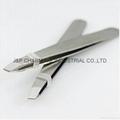 Mini tweezer Stainless Steel Slant Tip