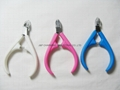 Professional Nail scissor Cuticle Nipper Clipper Manicure plastic handle