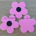 240/240 Grit Pink Flower Nail Files  54mm Eva Nail File Buffer