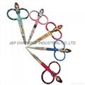 Beauty scissors eyelash nose hair scissors cosmetic beauty scissors eyebrow  3