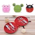 7pcs/Set Cute Animals Nail Art Manicure Set Nail Clipper Eyebrow Scissor Cliper