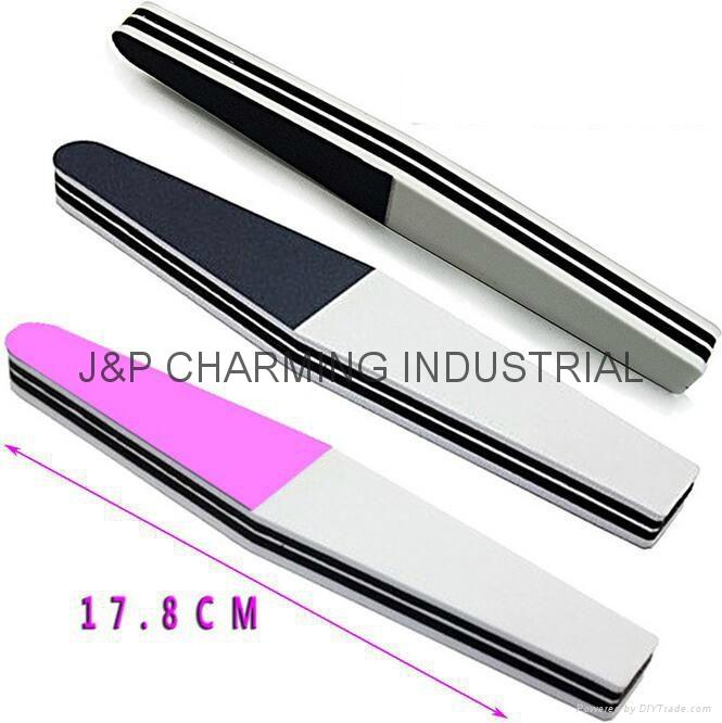 diamond nail polishing file nail shiner 3 step nail buffer