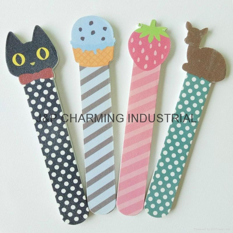 Cute Emery Board Nail File With Animal Design