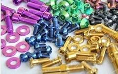 Colorful titanium Ti bolts screwsfor bike bicycle motor car