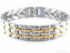 Gold Stainless Steel Link Magnetic Bracelet