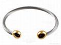Stainless Steel Gold End Magnetic Bracelet