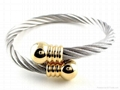 Gold & Silver Twist Copper Magnetic Bracelet