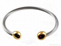 Stainless Steel Wire Magnetic Bangle