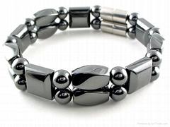 黑胆石磁疗手链