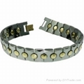 Tungsten steel Bracelet & jewelry with magnet or germanium, minus ions