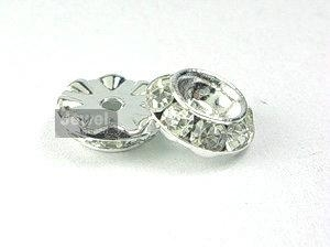 crystal roundel with square disc