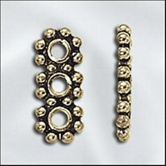 alloy bead finding (3 Hole Spacer, Daisy