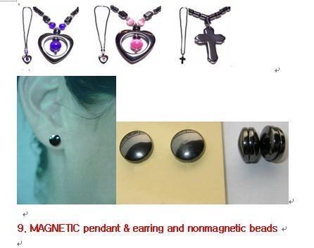 magnetic earring & pendant