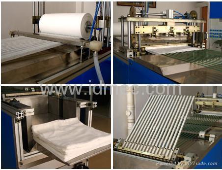 Lap sponge folding machine 1