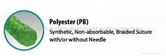 Suture-silk-braided polyester
