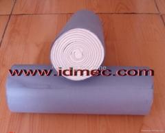 Absorbent cotton roll machine