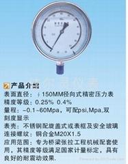 0.4级充油耐震精密压力表