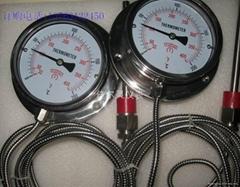 100MM全不鏽鋼帶軟管溫度計