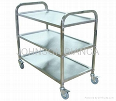 F & B Service Stainless Steel Trolley (Three layers)
