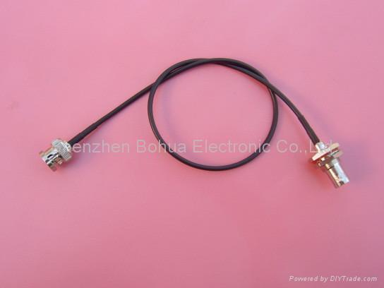 BNC male straight to BNC female straight bulkhead with RG179 cable 1