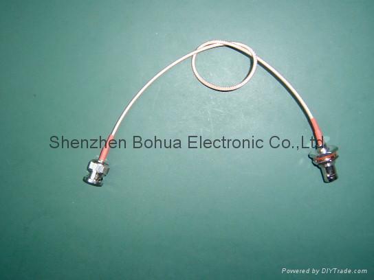 BNC male straight to BNC female straight bulkhead with RG179/B cable 1
