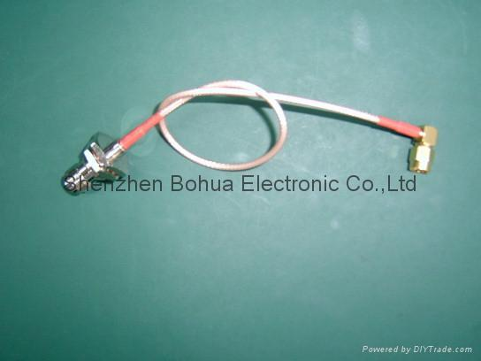 TNC female straight bulkhead to SMA male right agnle with 50-1000mm RG316 cable 1