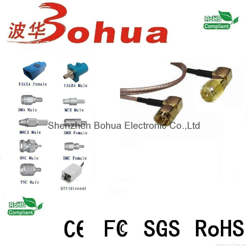 SMA female right angle to SMA male right angle with 200mm length RG316B cable 1