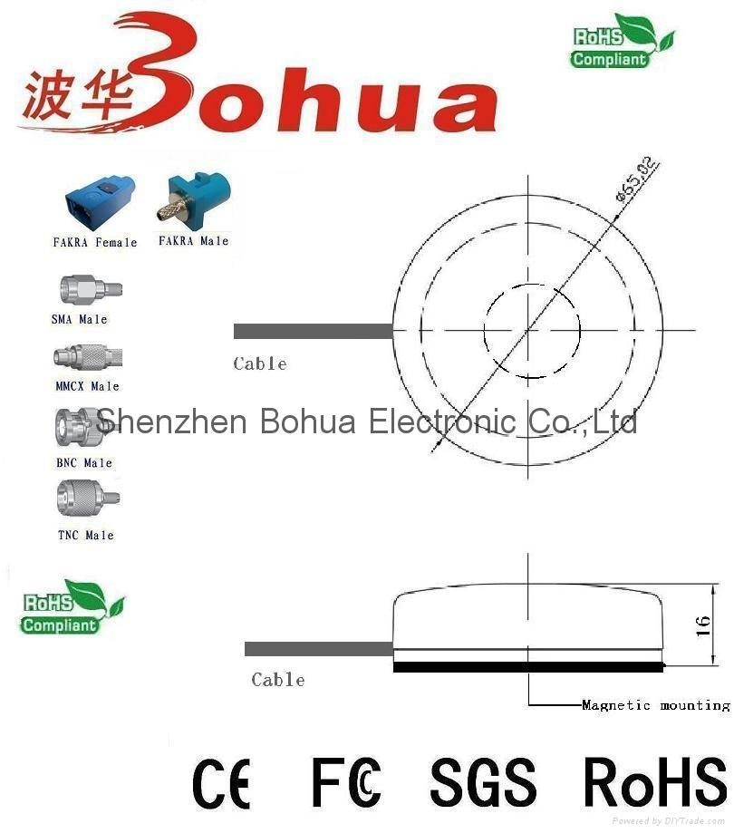 GPS/GLONASS/IRIDIUM-BH06(Low Profile GPS/GLONASS/Iridium active Antenna) 2