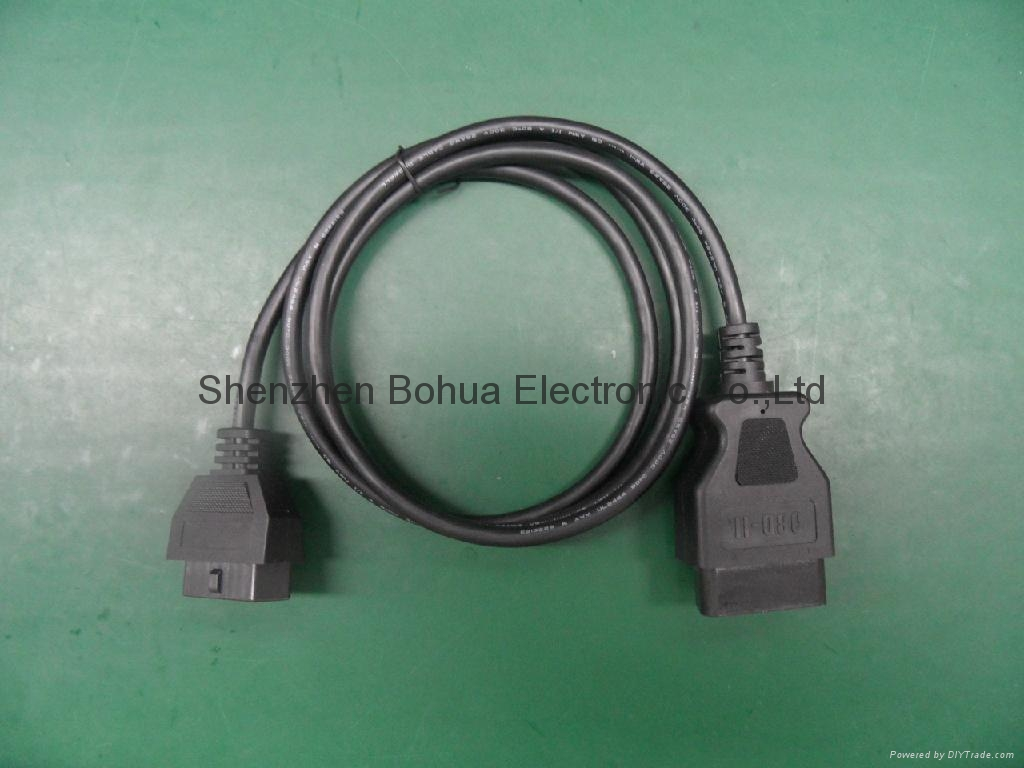 OBD II male straight to ODB II female straight with 500mm length cable 1