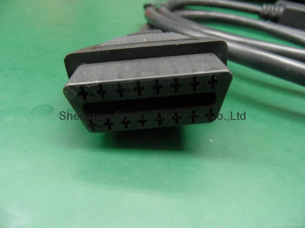 OBD II male right angle to ODB II female straight with 500mm length cable 2