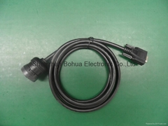 Deutsch 9pin femle to DB9 female with 500mm length cable