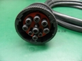 Deutsch 9pin femle to DB9 female with 500mm length cable 2