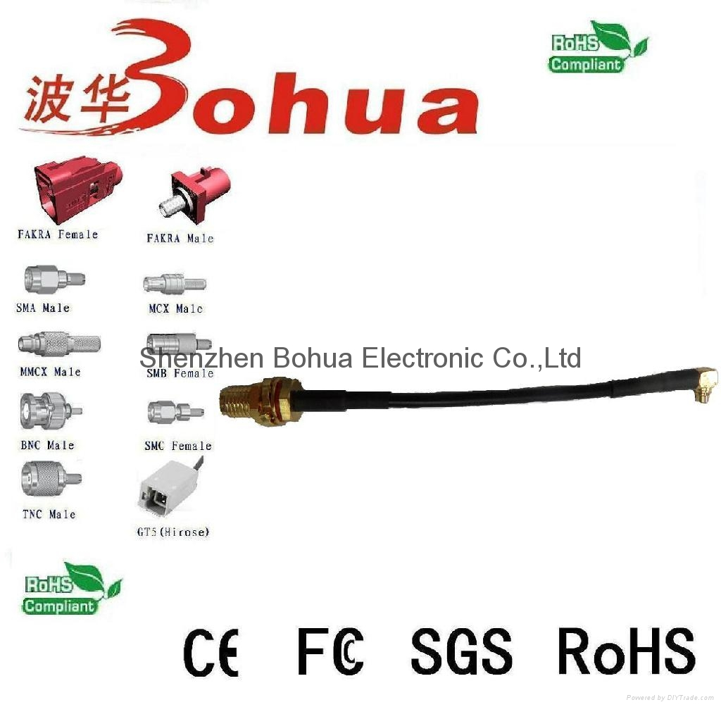 SMA female to MMCX male Right angle with RG174 cable 1