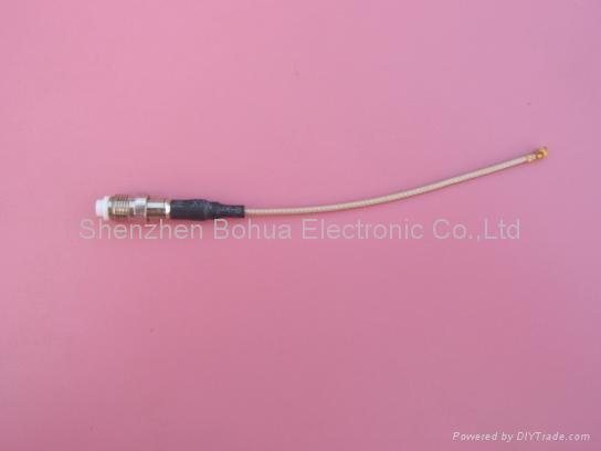 FME female straight to U.FL/GSC/IPEX with 100mm RG178 cable 1