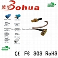 SMA male right angle to SMA female bulkhead with SF141J cable