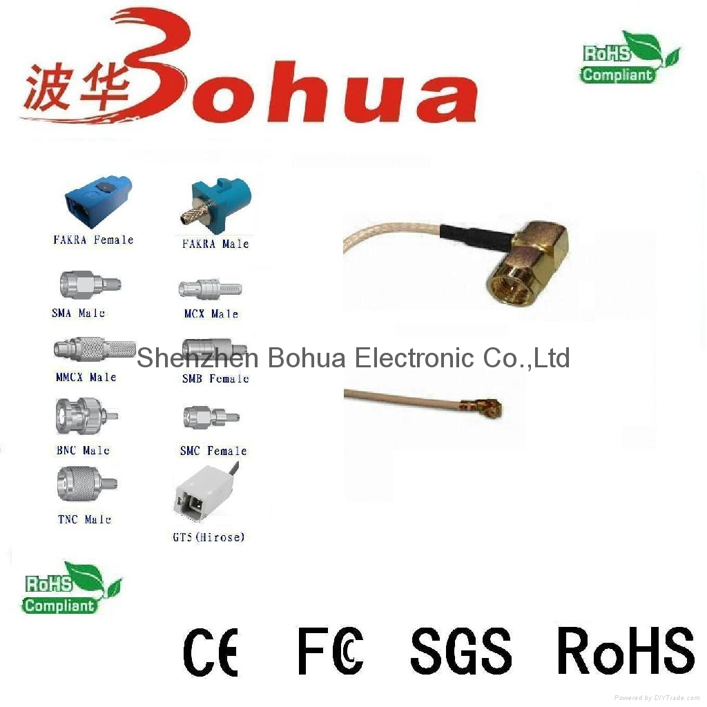 SMA male right agnle to U.FL with RG178 cable 1