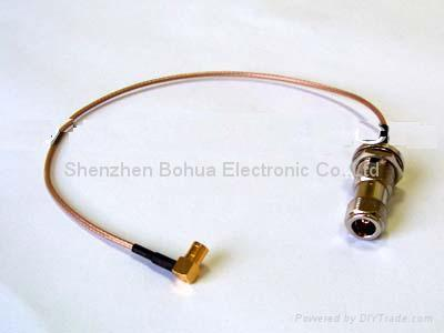 N female straight bulkhead to SMB female right agnle with RG316 cable 1