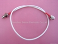 RP-TNC male to RP-TNC female straight bulkhead with 600mm length RG142 cable