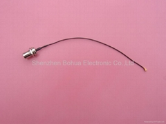 FME male straight bulkhead to U.FL with 150mm length 1.13mm(D) cable