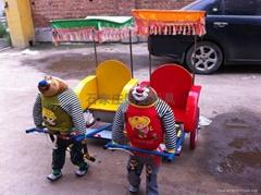 批机器人拉黄包车