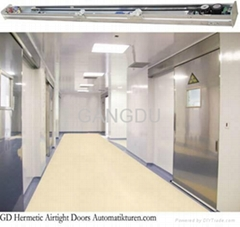 Hospital cleanroom hermetically sealed airtight sliding doors