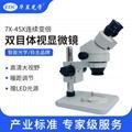 EOC华显光学双目体视显微镜7-45倍连续变倍专业体式显微镜