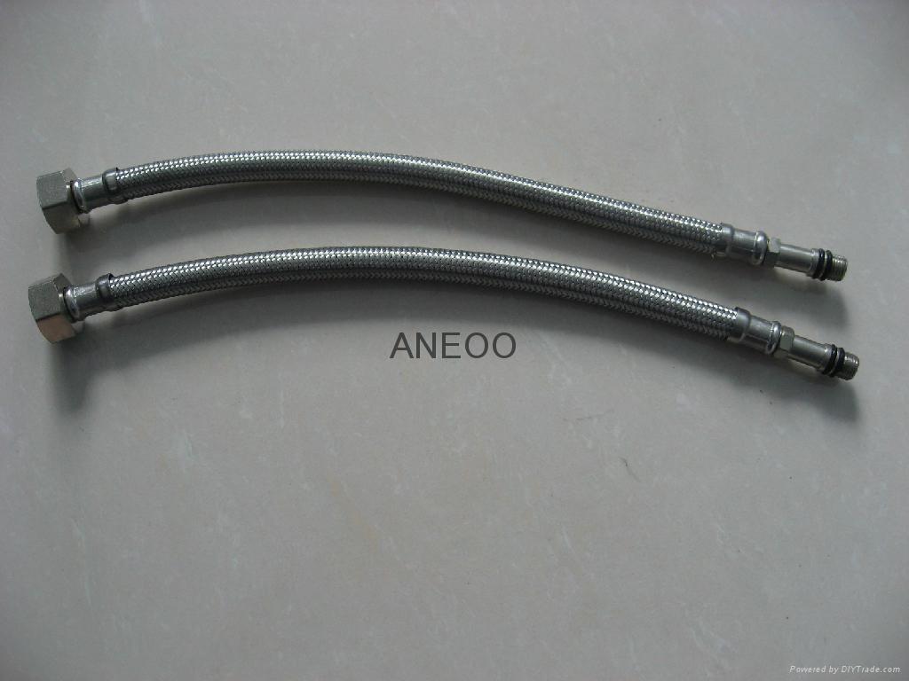 不鏽鋼絲編織軟管龍頭軟管 M10*1加長1.7 2
