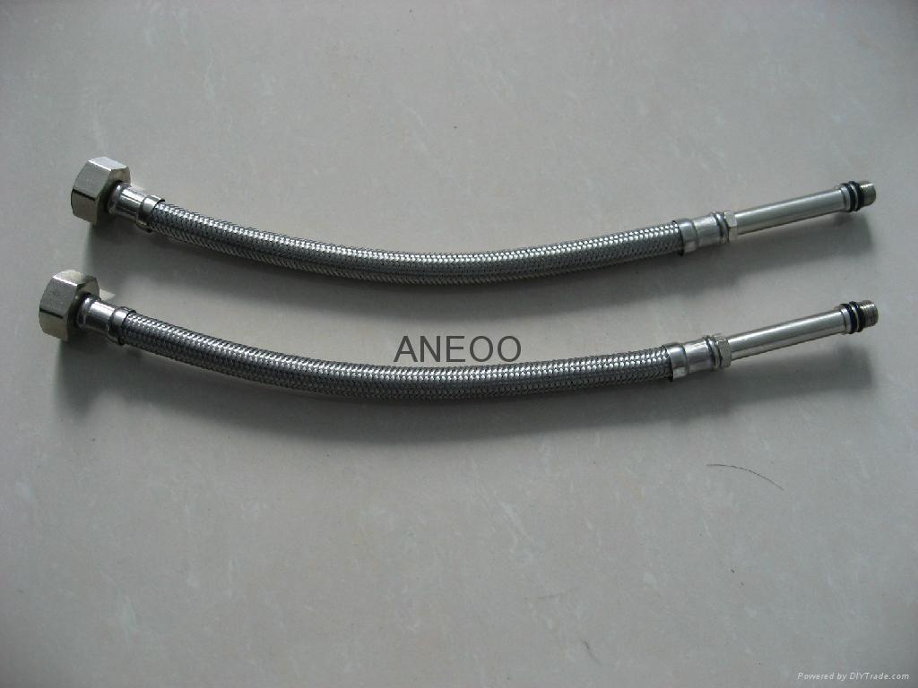 不锈钢丝编织软管 M10*1加长5 2