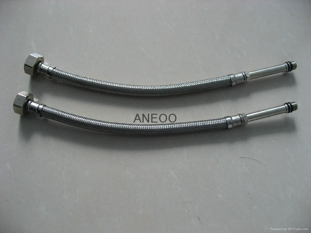 不锈钢丝编织软管 M10*1加长5 1